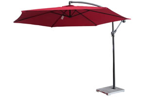 Red banana umbrella to rent
