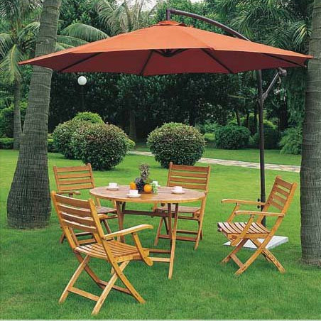 Red banana garden umbrella