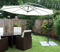 White garden umbrella for hire